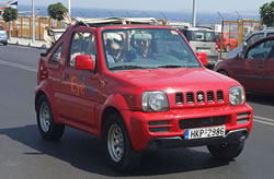 Rent an open jeep 4x4 on Crete.